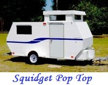the new squidget pop top tiny travel trailer